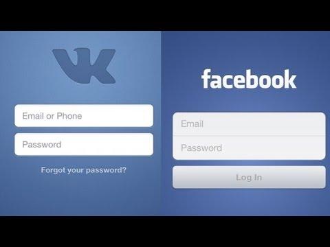 Вконтакте или Фейсбук? Сравнение. [Vkontakte vs. facebook]