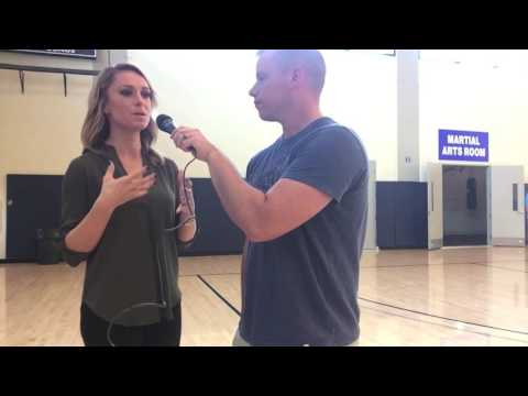 ESPN sideline reporter Molly McGrath speaks with Martin Foster about the Armed Forces thumbnail