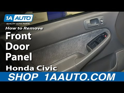How To Remove Install Front Door Panel 1996-2000 Honda Civic