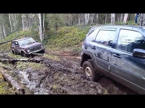 Шевроле нива и нива 4Х4 поездка в лес (часть 2)