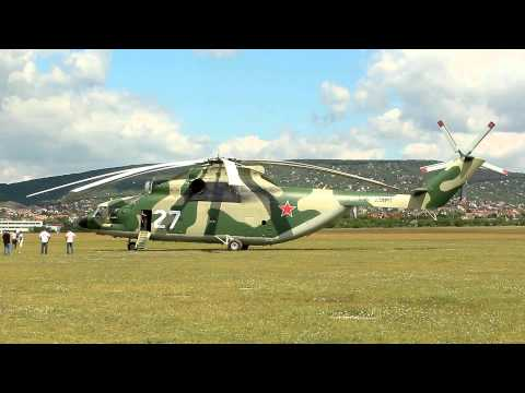 Mil Mi-26 (World's largest helicopter) take off at Budaörs (EW-260TF)