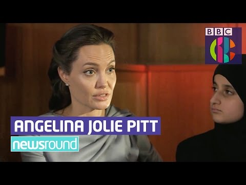 Angelina Jolie Pitt talks to CBBC Newsround