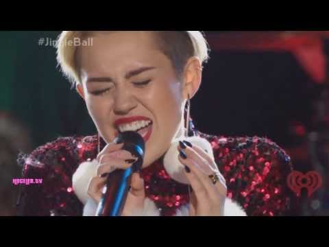 Miley Cyrus - Wrecking Ball Live At Z100s Jingle B...