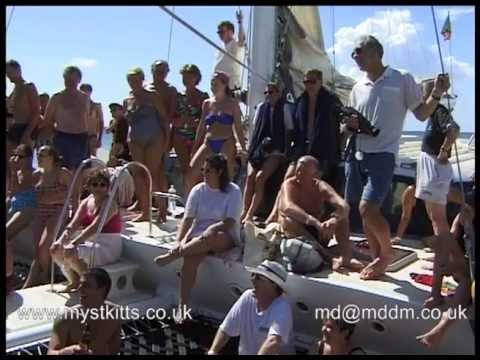 Leeward Island Charter Catamaran journey from St Kitts to Pinney Beach on Nevis