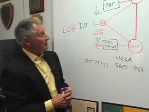 The first Internet connection, with UCLA's Leonard Kleinrock