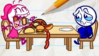 Pencilmate in a Furious Food Fight!