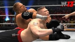 Game | WWE 13 تربل أش vs بروك ليزنر vs كرت أنقل vs كيفن ناش vs شيمس vs ذا روك | WWE 13 تربل أش vs بروك ليزنر vs كرت أنقل vs كيفن ناش vs شيمس vs ذا روك