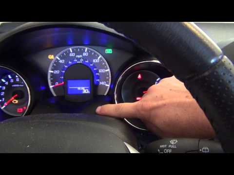 2012 Honda Fit - Oil Life Light Reset - How to