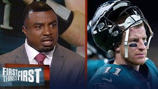 Brian Westbrook weighs in on Carson Wentz being compared to Tom Brady | NFL | FIRST THINGS FIRST