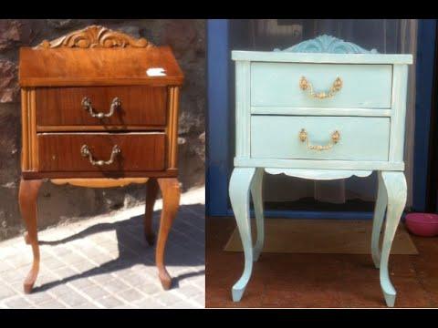 Restauracion de un mueble con carcoma y pintura efecto tiza chalk paint youtube - Como decapar un mueble en blanco ...