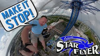 "Screaming ""MAKE IT STOP"" On The World's Tallest Swing Ride -  ORLANDO STAR FLYER"