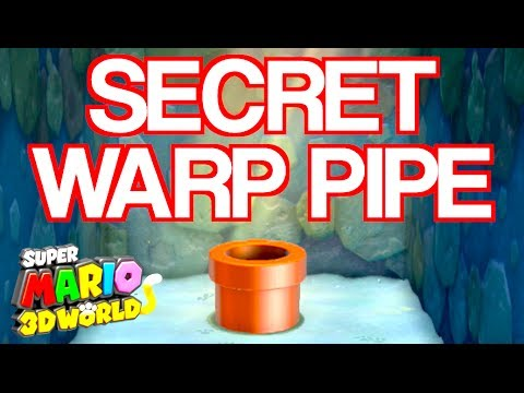 SECRET WORLD WARP PIPE!!!! Super Mario 3D World Cheat