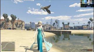 Playing as Elsa [GTA V Mod] Mike Matei Live