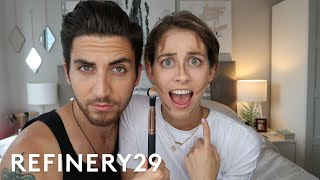 My Brother Does My Makeup | Lucie Fink Vlogs | Refinery29