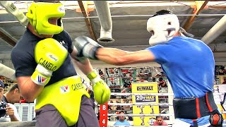 UNRELEASED CANELO ALVAREZ SPARRING FOOTAGE - SHOWS DEFENSIVE FUNDAMENTALS - SLIPPING PUNCHES