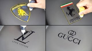 World's Most Expensive Pancake Art - LOUIS VUITTON, HERMES, GUCCI, CHANE, Lamborghini, Ferrari, Audi