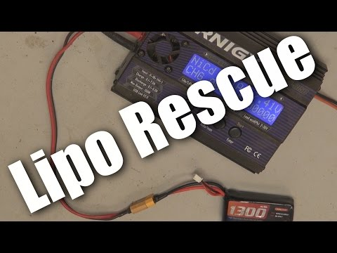 How to recharge a fully flat lipo (lithium polymer) battery