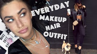Everyday - Makeup, Hair & Outfit - Model off duty vibes - No makeup, makeup & Faux Freckles