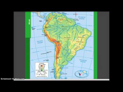 Physical and Political Geography of South America