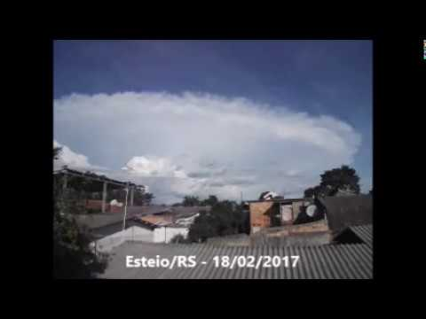 18/02/2017 - Time-lapse Nuvens Cumulonimbus (Cb)