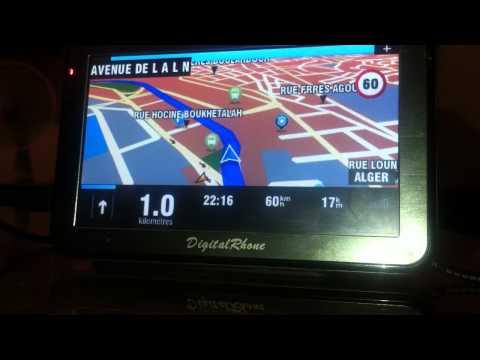 GPS  Algerie  carte 2012 48 Wilayas