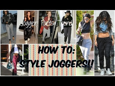 How I Style Joggers! | Celeb Fall Trend: Jogger Pants♡
