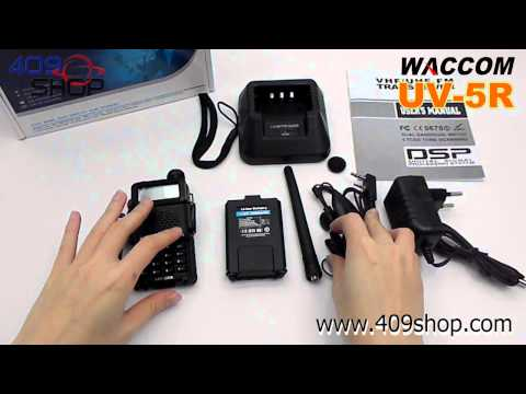 WACCOM UV-5R Dual Band UHF/VHF Radio