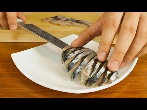 Mackerel sashimi made from whole fish youtube for Whole foods sushi grade fish