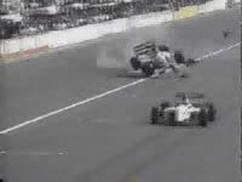 Christian Fittipaldi way through checkered flag Video