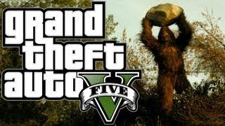 Grand Theft Auto 5 - Bigfoot Easter Egg! GTA V Sasquatch Hunting! (GTA 5 Bigfoot Gameplay)