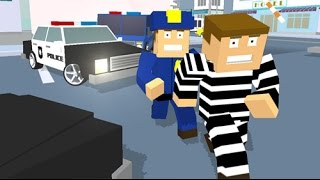 Blocky Cop Craft Running Thief  police car game - Inspired on minecraft