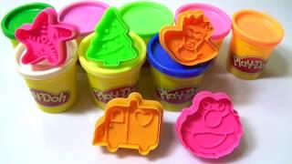 Play Doh- Learn create tremaine,starfish,snowman,christmas tree,cockhorse - surprise eggs play doh