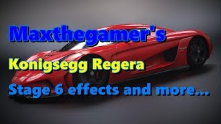 CSR2 Konigsegg Regera Stage 6 effects, tuning and overview