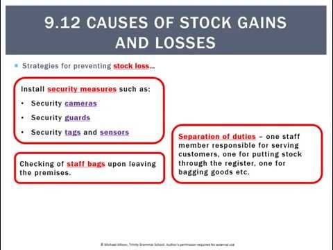 9.12 Causes of stock gains and losses