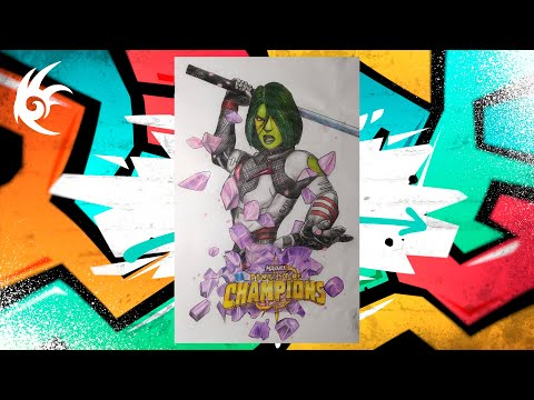 Drawing - MARVEL: Битва Чемпионов - Gamora ¦ Гамора