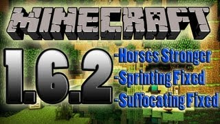 Minecraft 1.6.2 Update Features Horses & Sprinting Fixed!
