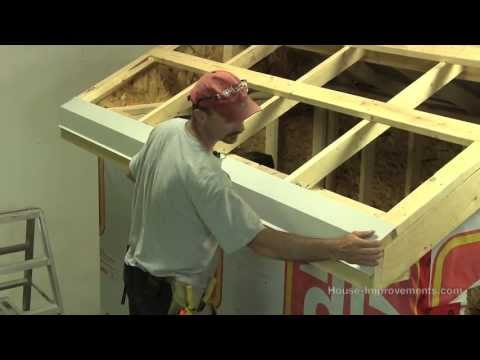 How To Build A Shed -  Part 4 Installing Sheet Metal Roof