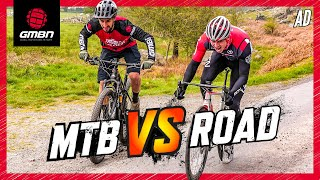 GMBN Vs GCN | From Here To There: MTB Vs Road Bike Challenge