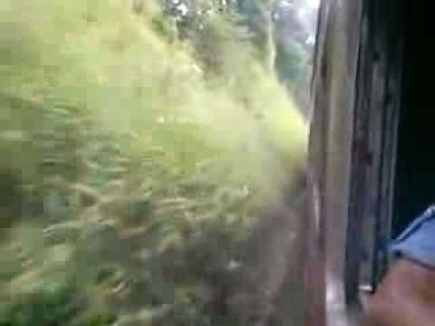 Big Tunnel pass in Sri Lanka by Train