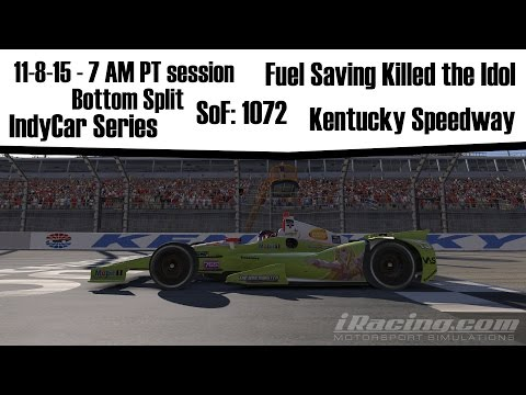 iRacing: Fuel Saving Killed the Idol (IndyCar @ Kentucky)
