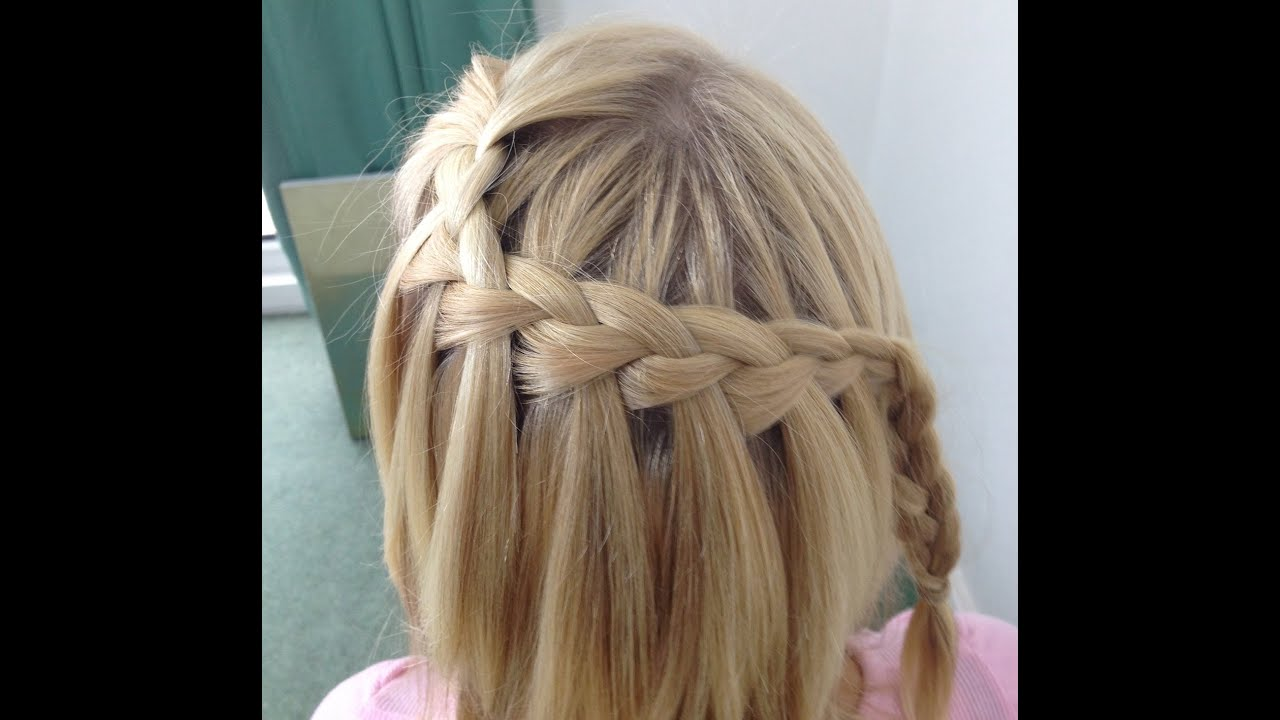 Easy Waterfall Braid Tutorial Youtube