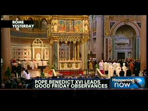 Pope Benedict XVI Leads Good Friday Observances