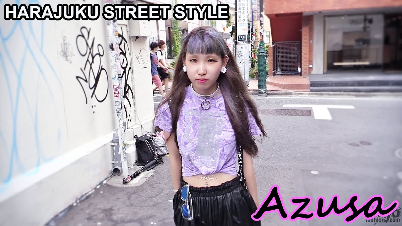Azusa Crop Top Leather Skirt Amp Piercings Japanese