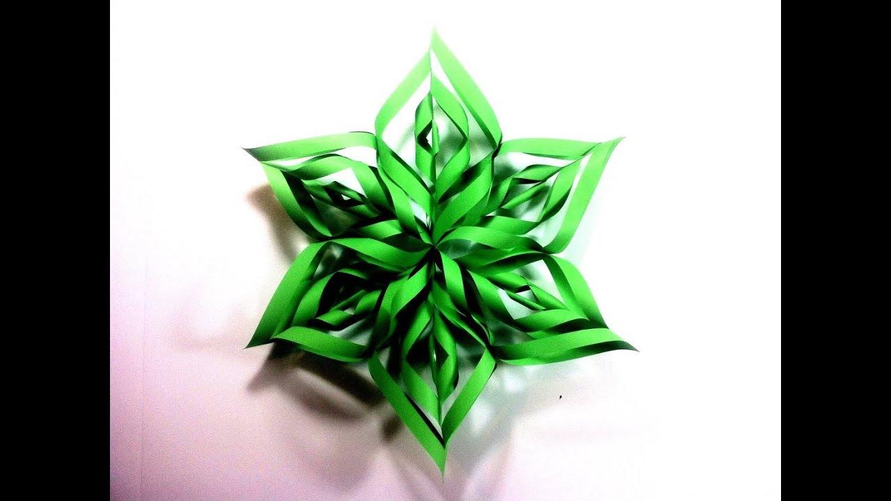 C mo hacer una estrella de navidad 3d de papel tutorial - Como hacer cosas de navidad ...