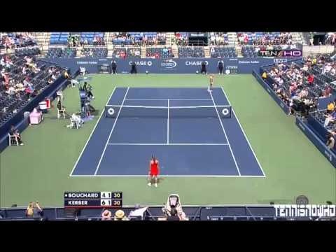 ▶ Angelique Kerber vs Eugenie Bouchard   Highlights US OPEN 2013 HD)   YouTube