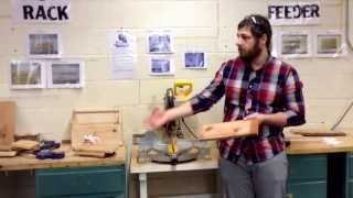 Miter saw. Measurements and cutting.