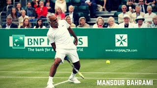 Tennis. The Greatest Showman Mansour Bahrami - Funny Moments