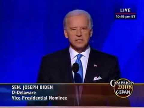 Sen. Joe Biden (D-DE) Addresses the DNC