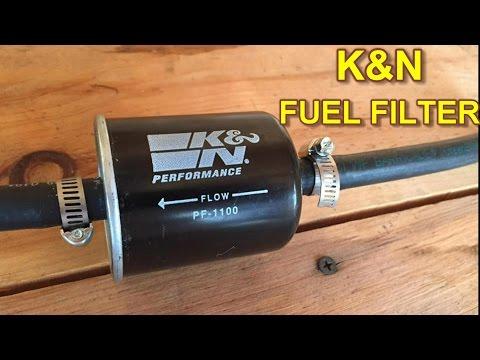K&N Fuel Filter Installation