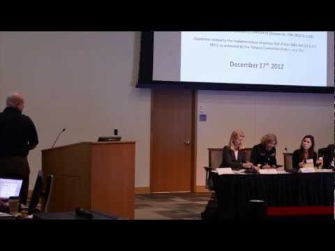 We Are Vapers/ AEMSA FDA Section 918 Public Hearing - Full Testimony Linc Williams on E-cigs